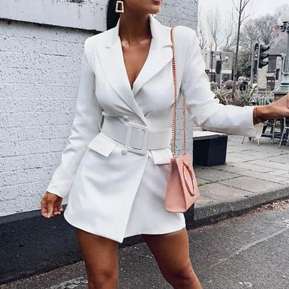 Sashes Dress Blazer Female Ladies Blazer Woman 2019 Work Wear Women Blazers and Jackets Femme Office Lady Formal Women's Jacket