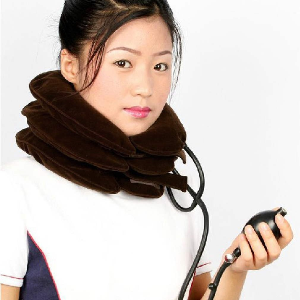 Health Care Coffee Neck Massage Air Cervical Soft Neck Brace Device Headache Back Shoulder Pain Cervical Traction Dropshipping