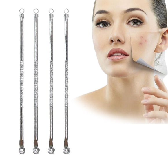 EFERO Comedone Extractor Blackhead Pimple Acne Remover Tool Spoon for Face Cleaning Acne Needle Tool Skin Care Acne Pore Cleaner