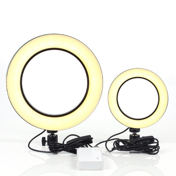 16cm 25.5cm USB Interface Dimmable Selfie Ring Light LED 5500K Lamp Camera Phone Photography Video Makeup Lamp Ring Lights