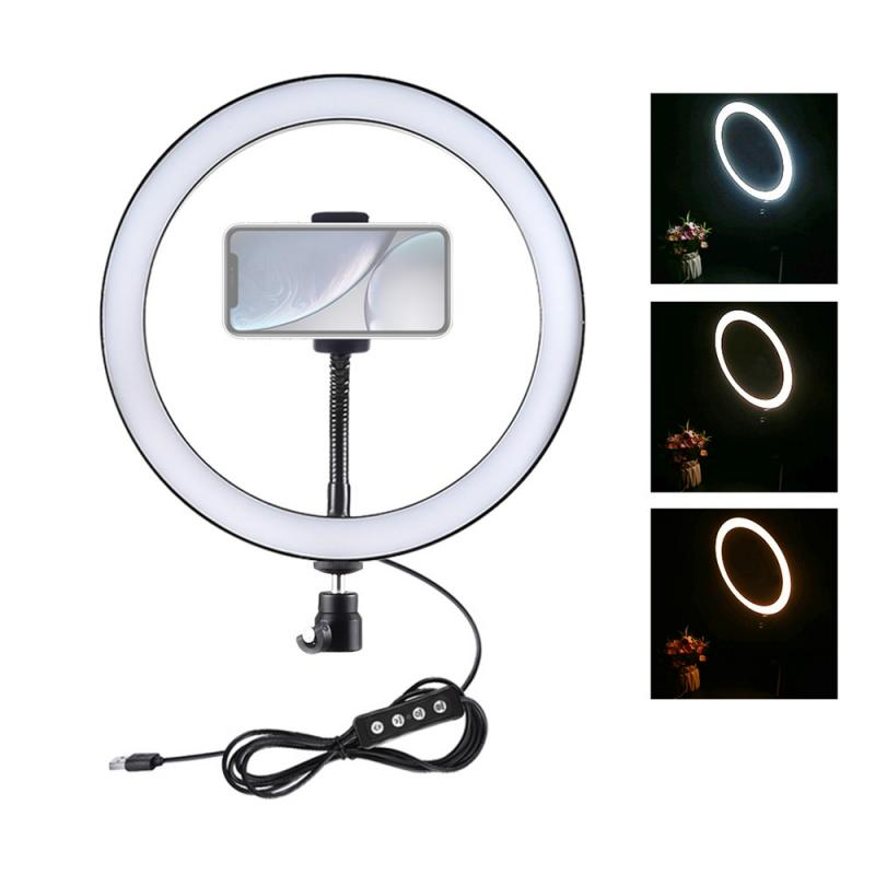 LED Selfie Ring Light Video Light Dimmable USB Ring Lamp Photography Light For Makeup Camera Phone Youtube Ring Lights