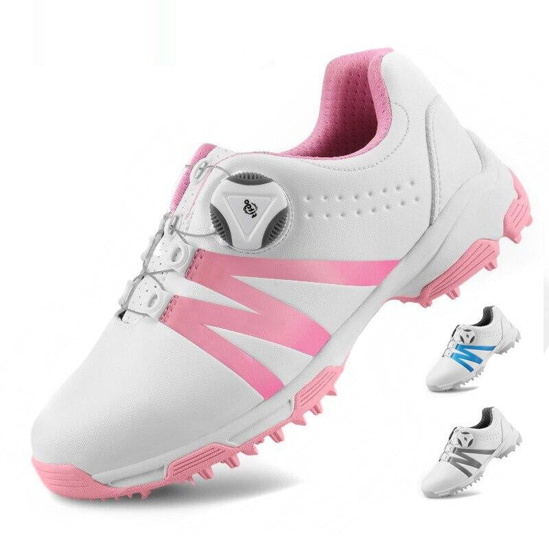 Pgm Women Sports Golf Shoes Waterproof Outdoor Golf Sneakers Ladies Spikes Non-Slip Training Breathable Shoes D0844