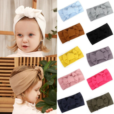 Lovely Toddler Baby Girls Turban Headband Hair Band Bow Accessories Headwear US