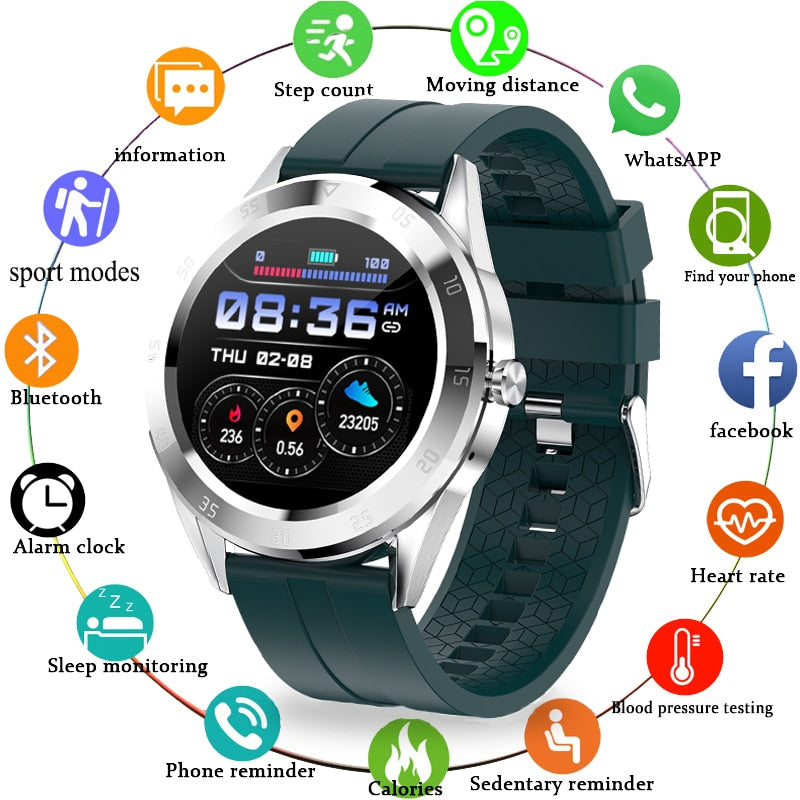 LIGE Smart Watch Men Phone Watch Connected Bluetooth Waterproof Sports Fitness Watch Suitable For Huawei Xiaomi Mobile Phone