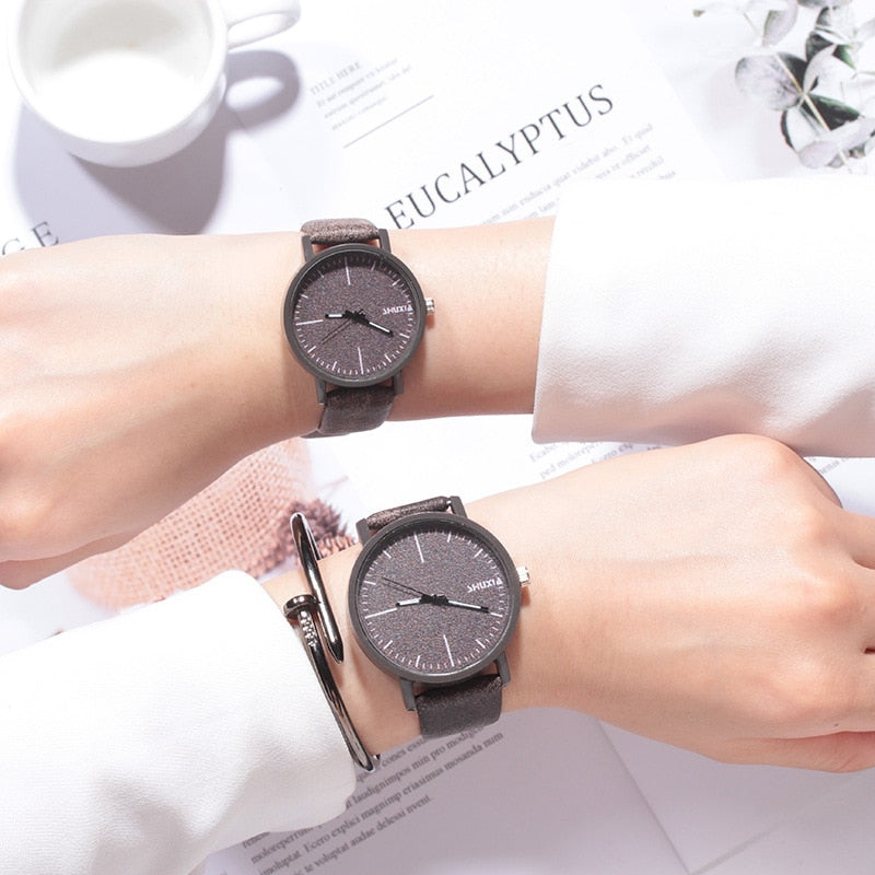 Boy Girl Students Couple Watches Simple Trend Couples Men Women Watch Retro Casual Atmosphere Wild Sen Female Lover Watch Clock