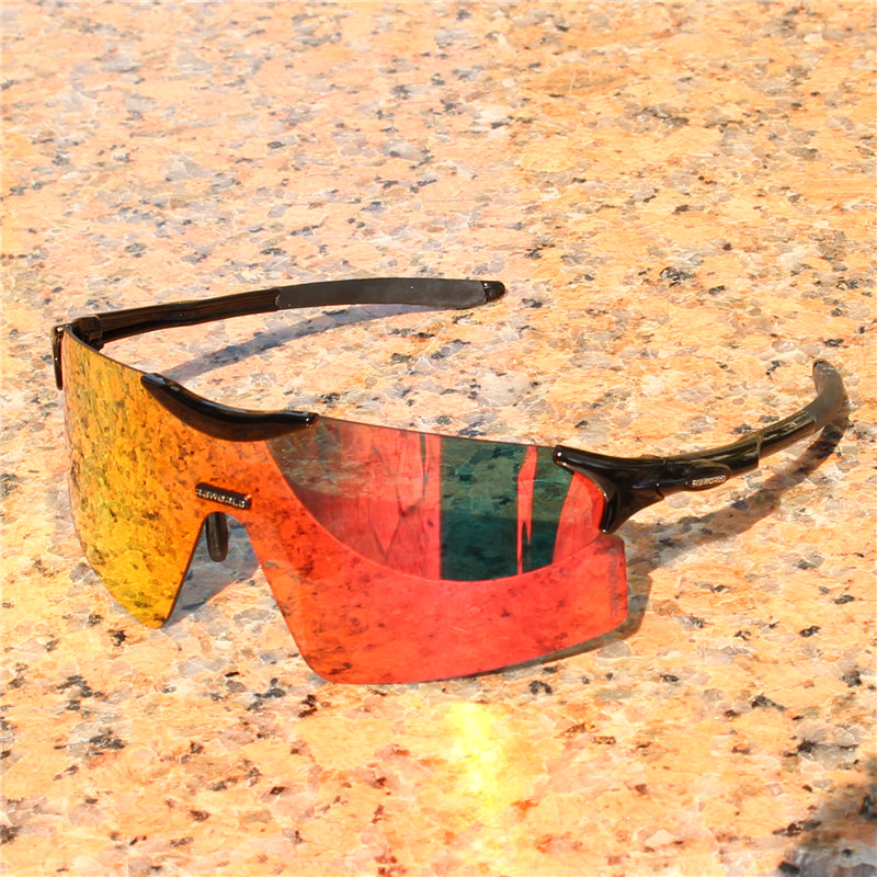 RockBros Polarized Sporting Cycling Sunglasses Running Fish Glasses PC Yellow