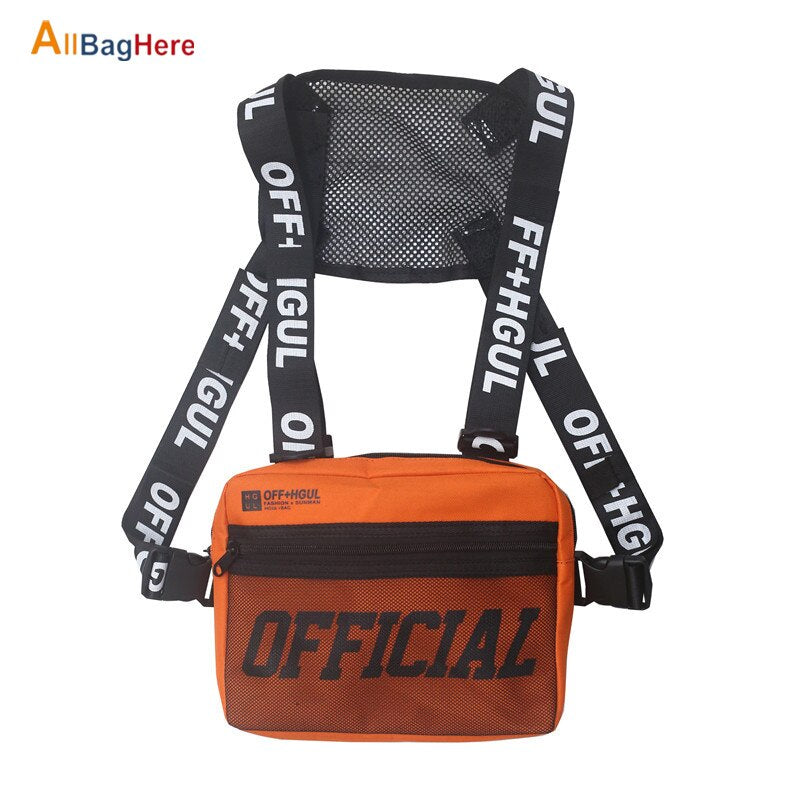 New Men Women Chest Rig Hip Hop Functional Chest Bag Cross Shoulder Bag Adjustable Tactical Vest Streetwear Couple Mini Backpack