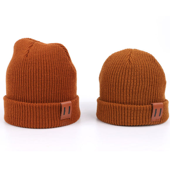 Unisex Women Men Kid Baby Girl Boy Winter Spring Hat Soft Warm Beanie Cap Crochet Knit Hats Adult Children Casual Ear Warmer Cap