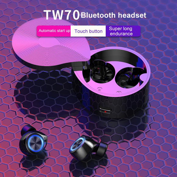 IMIDO Cute Wireless Music Earphone Bluetooth 5.0 Earphone Bass Stereo Earbuds TWS Mini With Microphone LED Display Charging