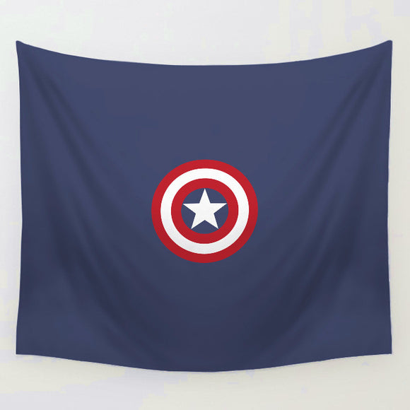 Cartoon The Avengers Captain America Tapestry Mat Sofa Cover Wall Hanging Decor Tapestries Bedspread Beach Towel
