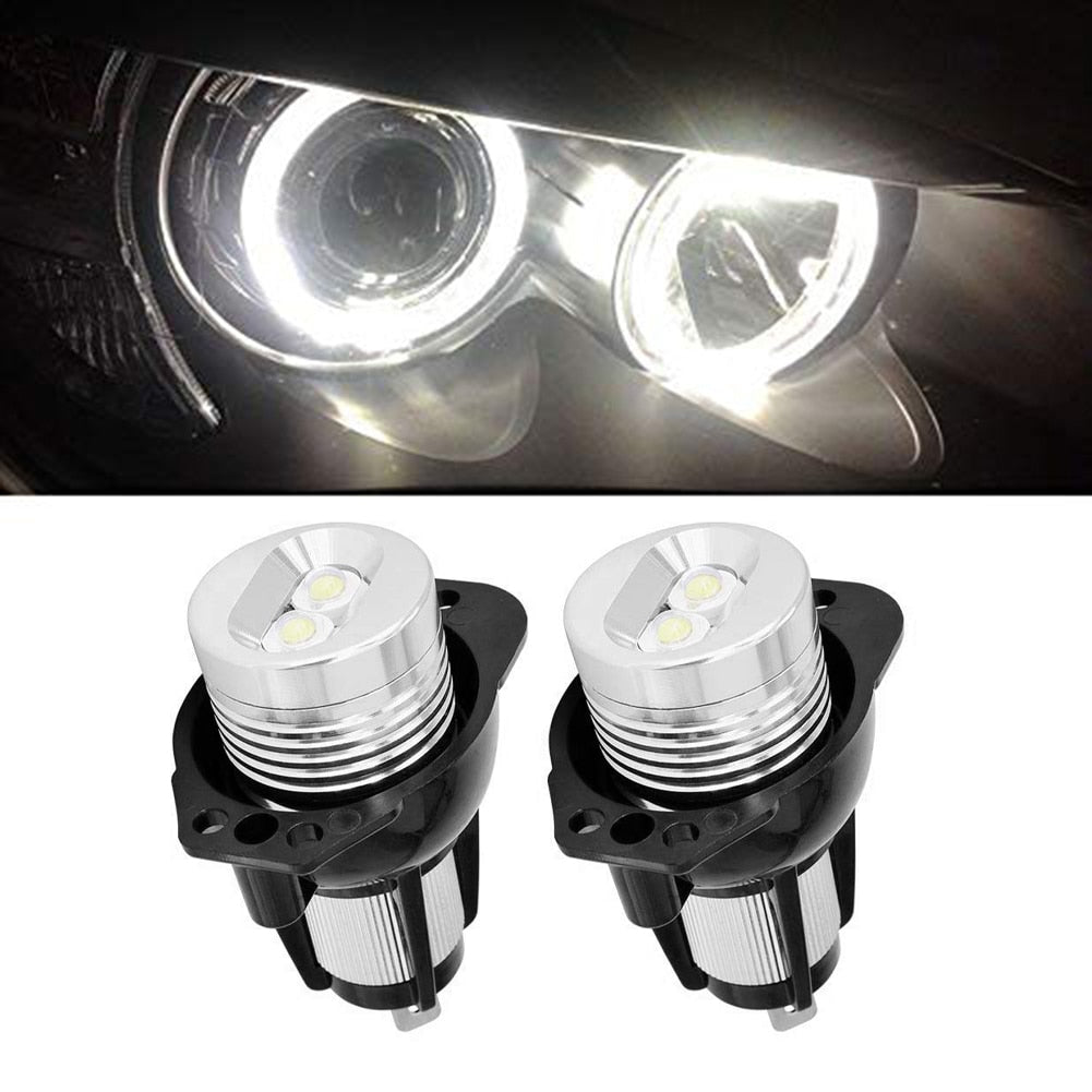 2Pcs LED Angel Eyes Marker Lights Bulbs for BMW E90 E91 Car Styling 1 Pair 10W High Power Angel Eyes for 3 Series LED Ring Bulbs