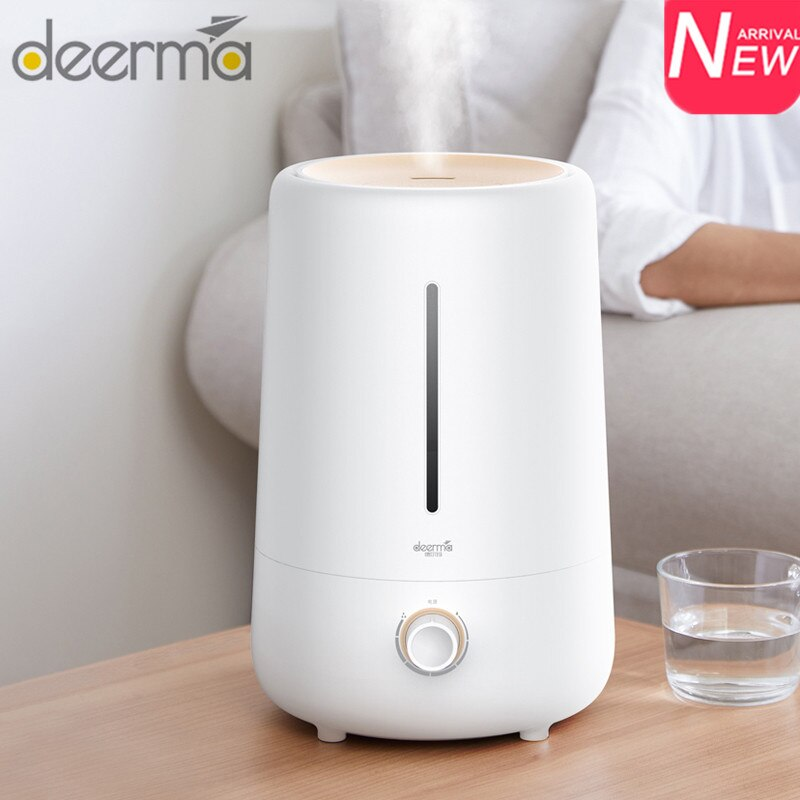 Deerma DEM-F426 4.8L Ultrasonic Air Humidifier Aromatherapy Aroma Air Diffuser Low Noise Cool Essential Oil Mist Maker For Home