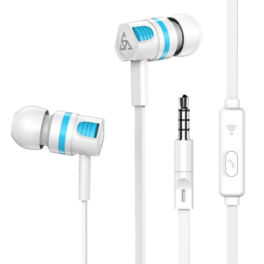 IMIDO PTM Original 3.5mm Jack High Quality In Ear Earphone Bass With Microphone Playing Music Movie For Samsung Huawei Phone