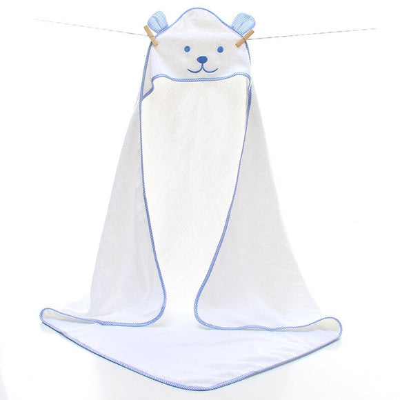 100% Cotton Baby Bath Towel Newborn Baby Towel Comfortable Baby Hooded Bathrobe Soft Cute Bear Beach kids Baby Blanket Infant