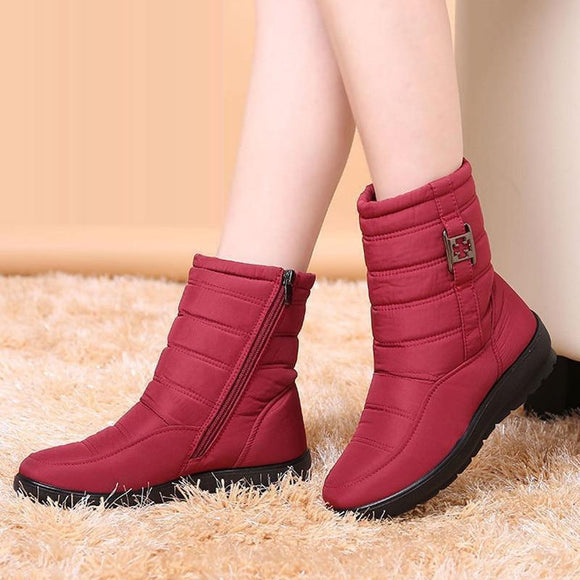 skyhigh Girls Lavender Faux Shearling Winter Boots Suede Upper with Snow Flower Pattern