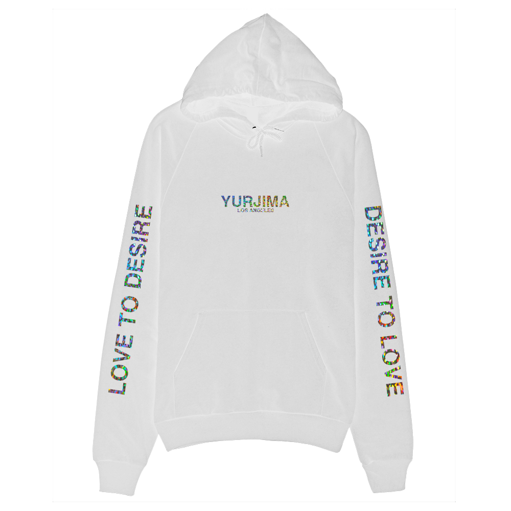Holographic Logo Hoodie White