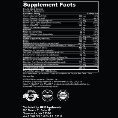 MASF Multi™ Plant based Multivitamin, Supplements, MASF Supplements LLC, MASF Supplements  -Smashin Frog