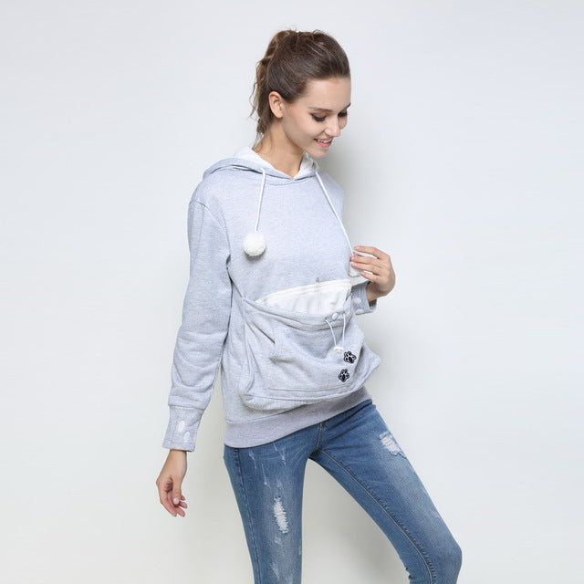 Cute Lovers Hoodies - With Cuddle Pouch
