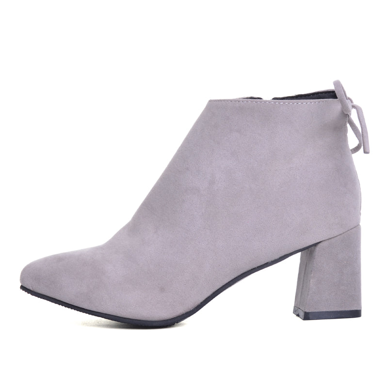 Suede Oyster Booties