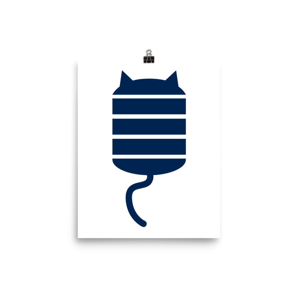 STRIPE CAT Poster
