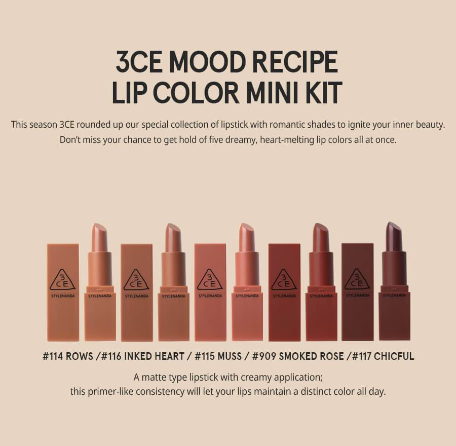 3CE 3CE Mood Recipe Lip Color Mini Kit