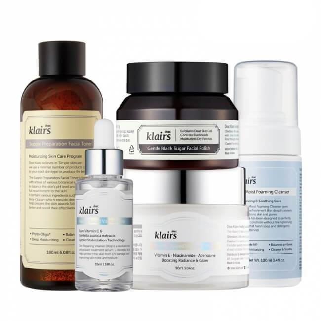 Dear Klairs 5-Step Brightening Set