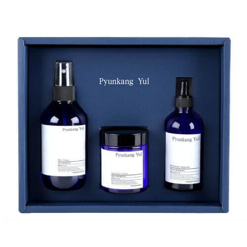 Go Bloom & Glow Pyunkang Yul Skincare Set for Oily Skin (3 items: Mist Toner 200ml + Moisture Ampoule 100ml + Moisture Cream 100ml)