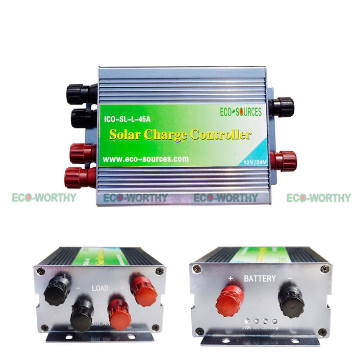 Off Grid Solar System Kit: 960W 24V,  6x 160W Panels, 45A Solar Charging Controller