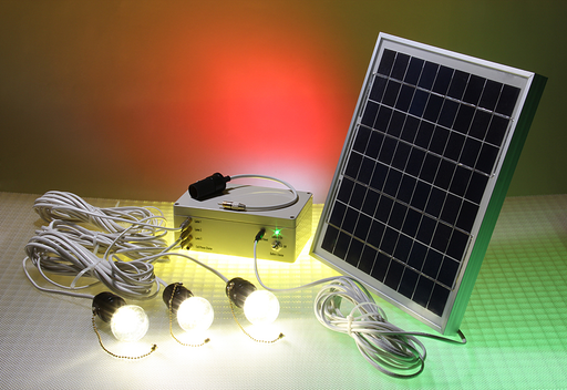 Off-grid Ledtronics Solar Powered Led 12V, 10W Panel Lighting Kit