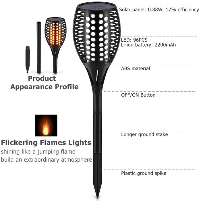 Solar Torch-flame Path Lights