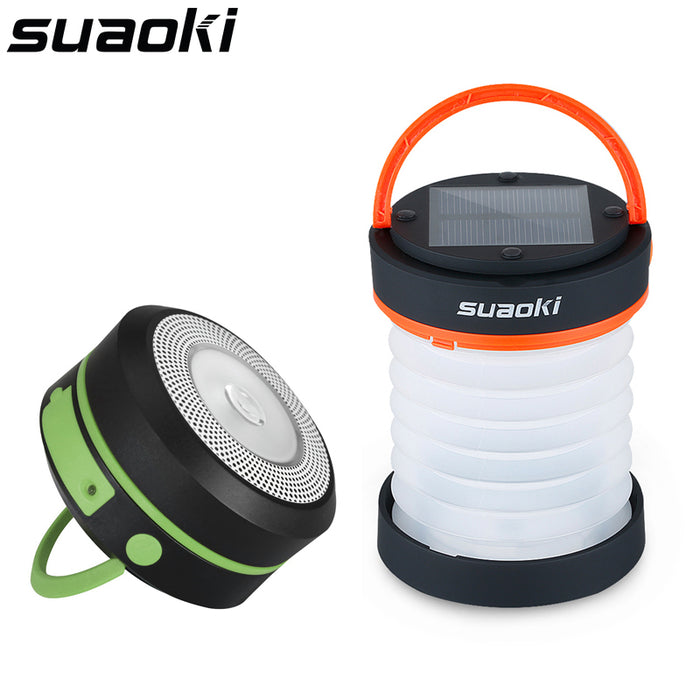 Suaoki Solar Camping Collapsible Lantern USB and Solar Rechargeable Light Flashlight Torch Light Water Resistant Lantern