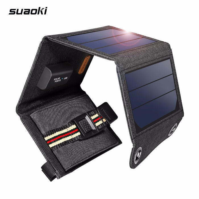 Suaoki 7W Folding Solar Panel Charger For Phone