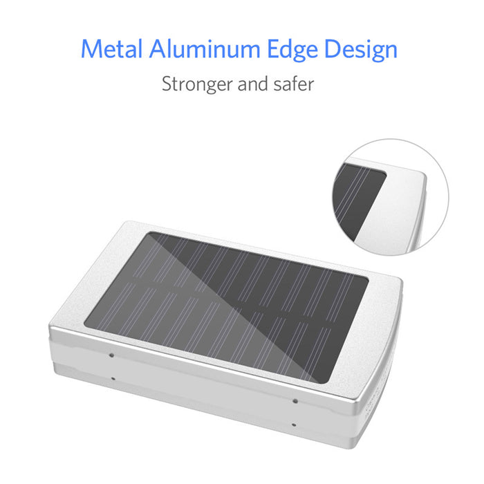 Solar Power Bank 12000mAh Charger with 20 LEDs for Smartphones