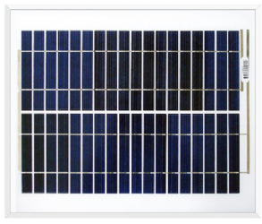 Ameresco Solar 20J 20W 12V Solar Panel With J-box