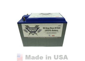 Battle Born Lithium Iron Phosphate 50Ah 24V Battery