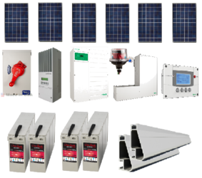 1.8 KW Grid-Tied system with battery back-up