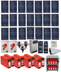 6.3kw residential home solar system with battery backup