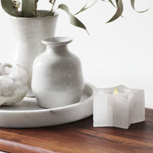 Selenite Tea Light Holder - White