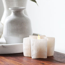 Selenite Tea Light Holder - Peach