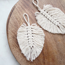 PRE ORDER Macrame Feather Ornament