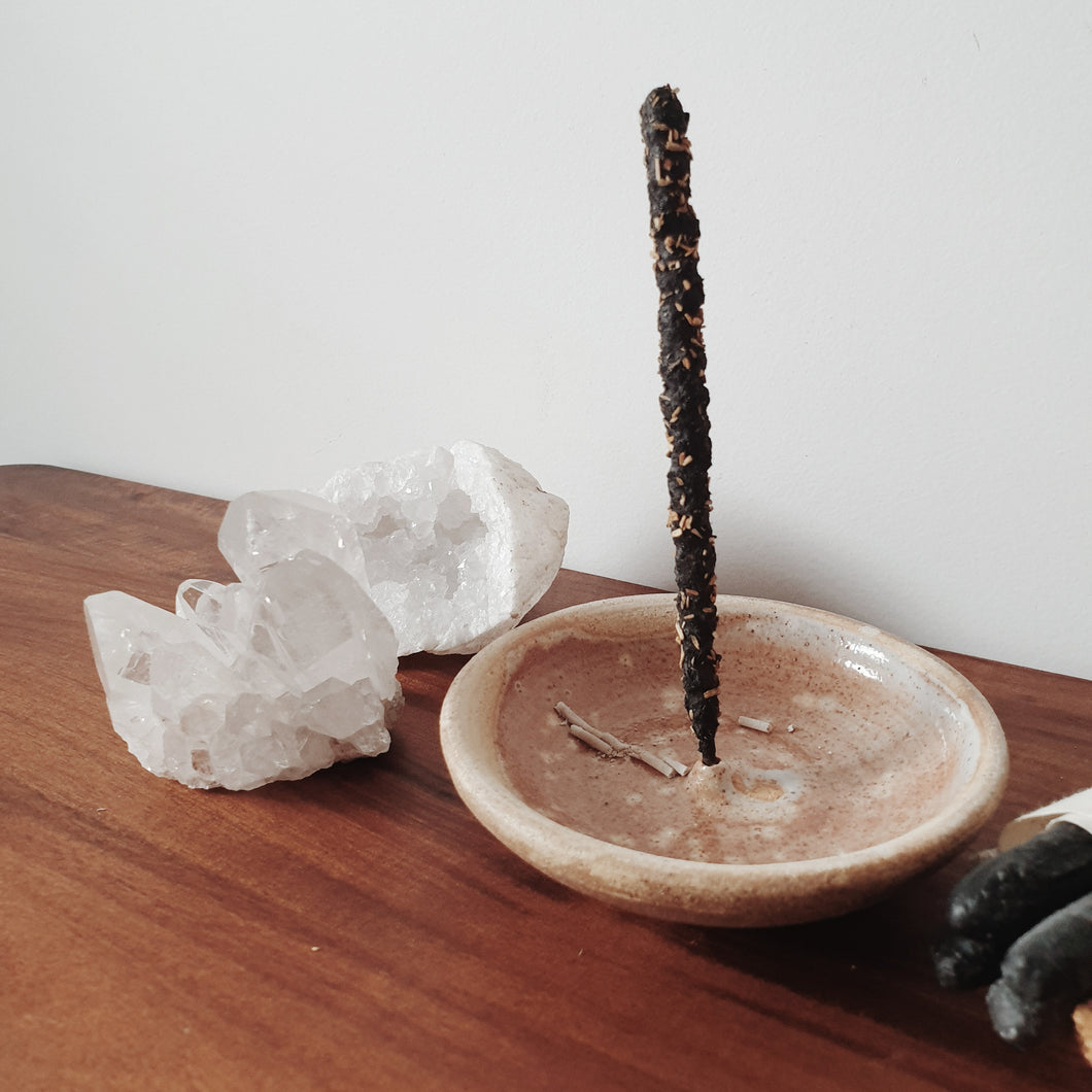 Incausa Incense Holder in Piker White