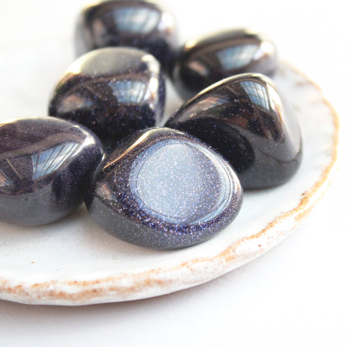 Goldstone Blue Tumbled Stones