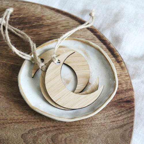 Bamboo Moon Christmas Ornament