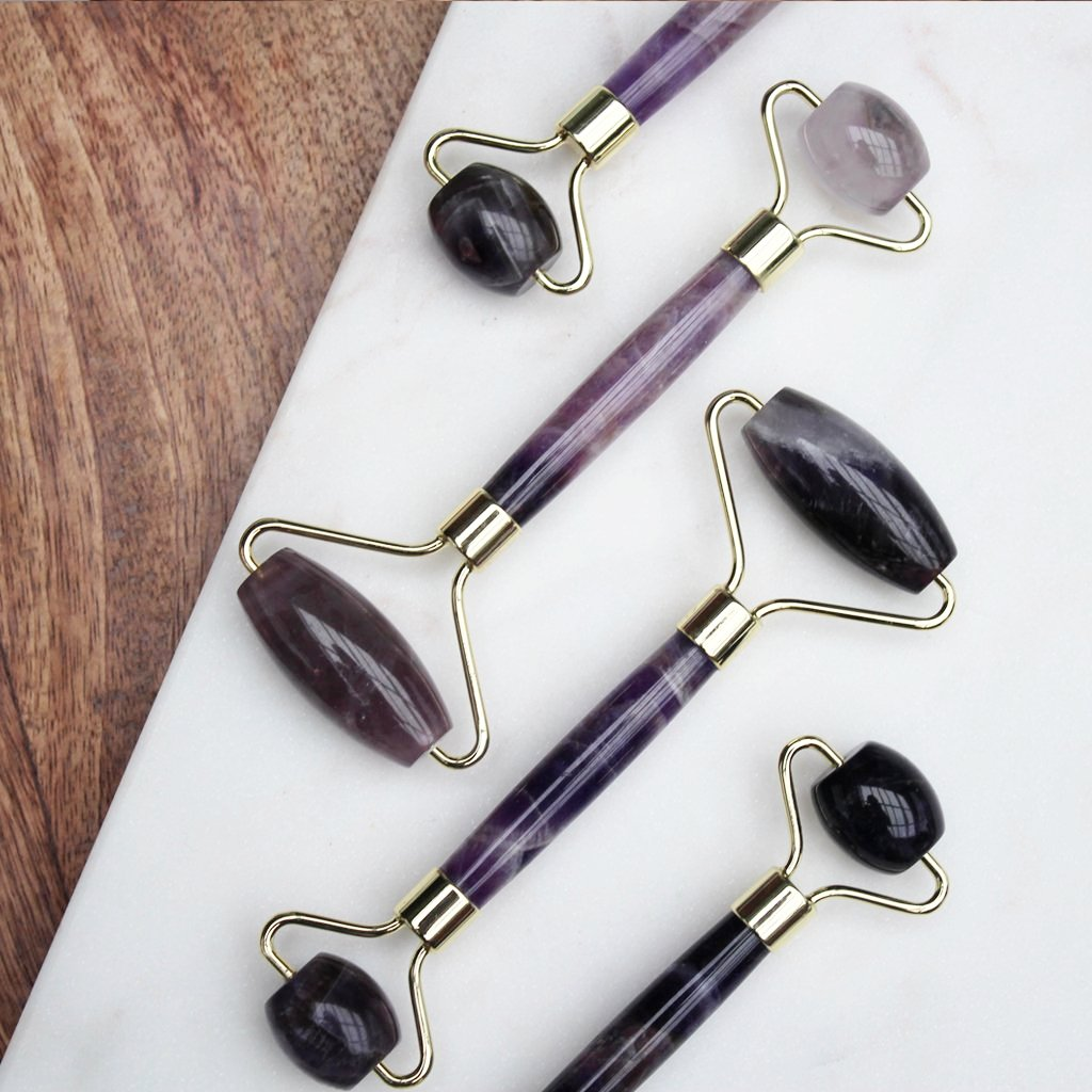 Amethyst Quartz Face Massage Roller