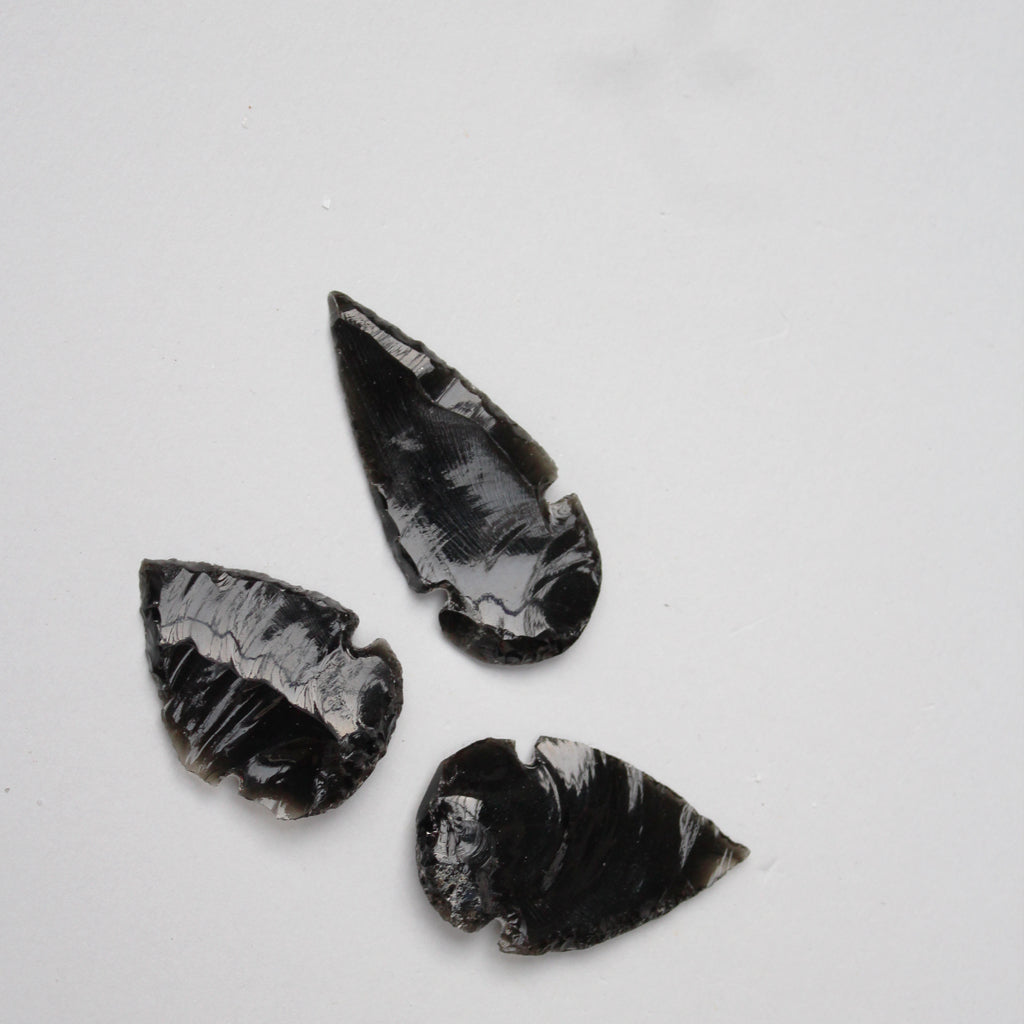 Black Obsidian Arrowhead