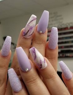 Pretty Nail Design-1 Marble nails