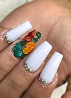 3D Decals Flower Nails