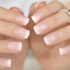 White French Tip Nail Design-5