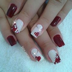 Valentine day nails-4