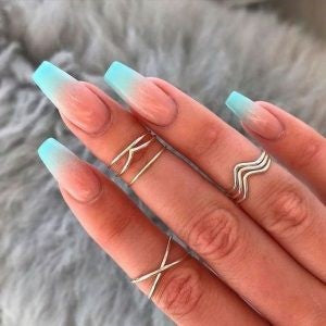 Turquoise French Nail Design